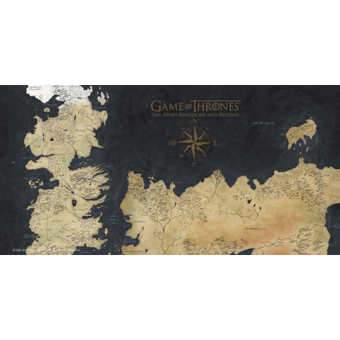 Game of Thrones Glass Poster - Westeros Map (50 x 25cm)