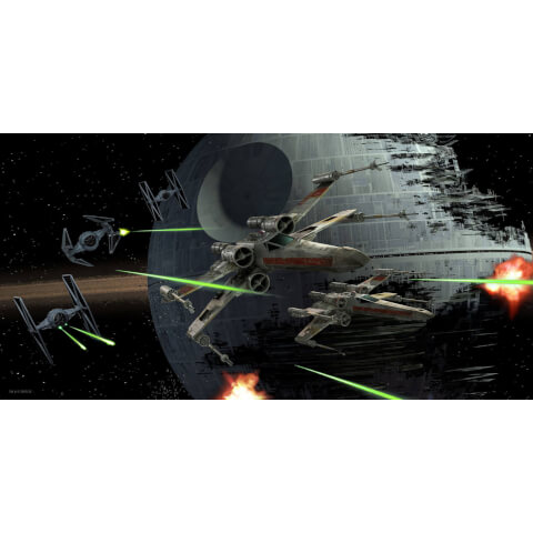 Star Wars Glass Poster - Tie Fighter vs. X-Wing (50 x 25cm)