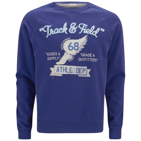 Tokyo Laundry Men's Track and Field Sweatshirt - Sapphire Blue