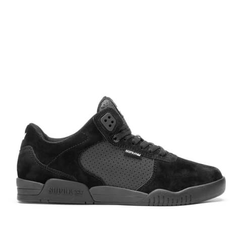 Supra Men's Ellington Mid Top Trainers - Black/Black