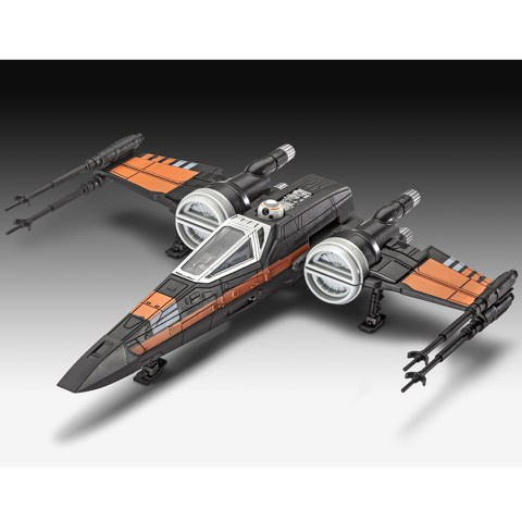 Star Wars The Force Awakens Poe's X-Wing Fighter Build And Play Model Kit