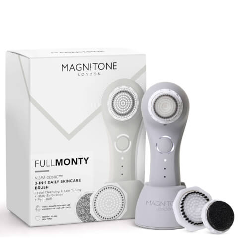 Magnitone London The Full Monty! Vibra-Sonic™ Daily Skincare Brush - Cool Grey