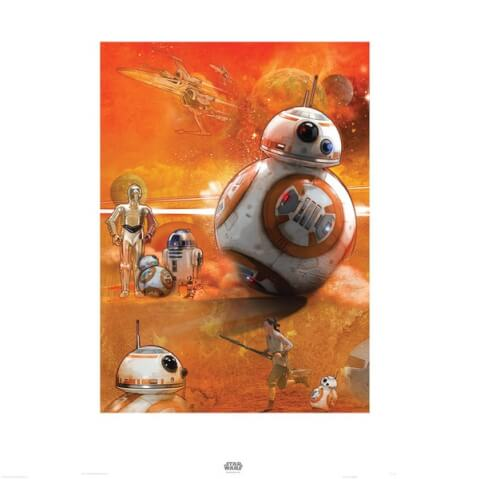 Zavvi Exclusive 60x80 BB-8 Star Wars The Force Awakens Fine Art Print