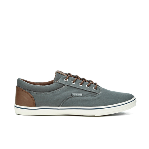 Jack & Jones Men's Vision Mix Canvas Pumps - Pewter