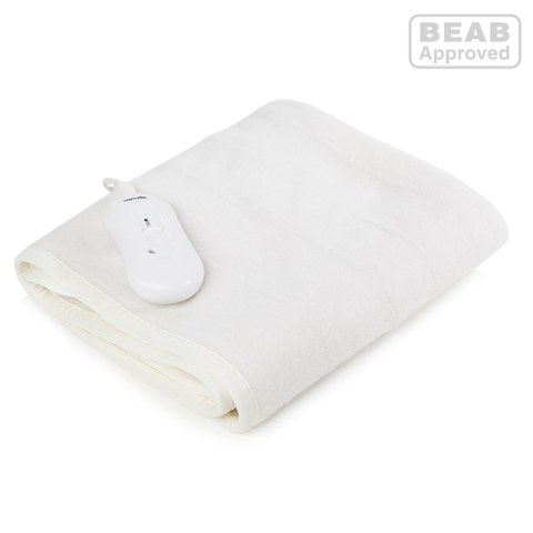 Warmlite WN47003 Heated Electric Blanket - White - Single