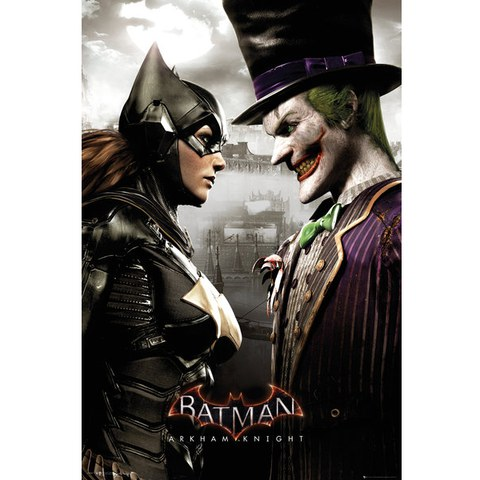 DC Comics Batman: Arkham Knight Batgirl and Joker - 24 x 36 Inches Maxi Poster