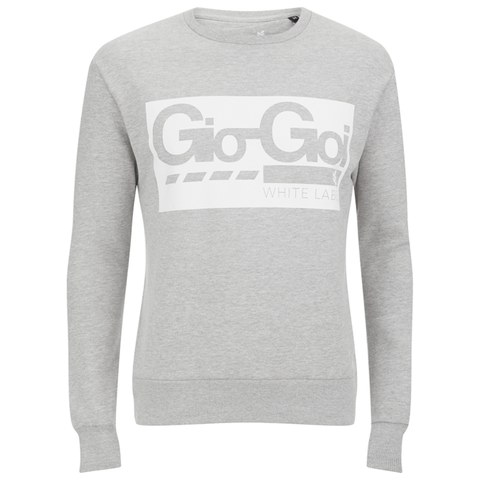 Gio Goi Men's White Label Crew Sweatshirt - Grey Marl