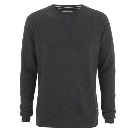 Brave Soul Men's Jones Crew Neck Sweatshirt - Dark Charcoal Marl