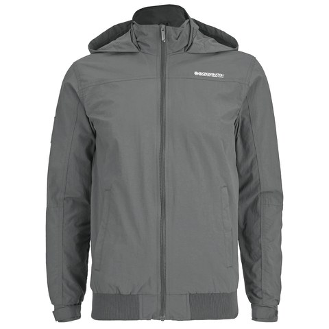 Crosshatch Men's Reflector Zip Through Jacket - Castlerock