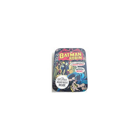 DC Comics Collectible Batman & Robin Tin Case with 150 pc Jigsaw Puzzle