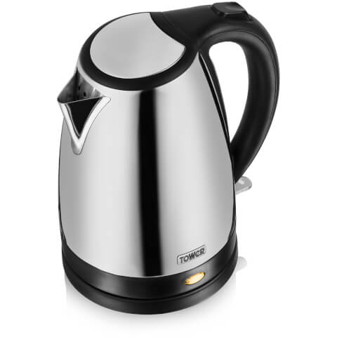 Tower T10002P Kettle - Polished Stainless Steel - 1.7L