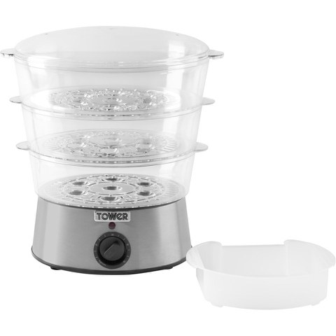 Tower T21001 3 Tier Steamer - White