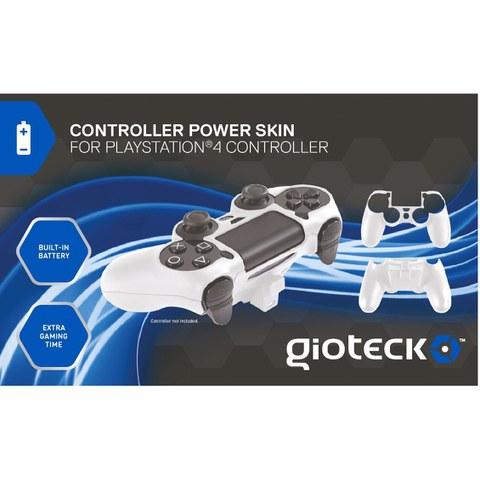 Carcasa y Batería Gioteck PS4 - Blanco