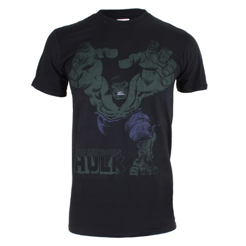 Marvel Men's Hulk Smash T-Shirt - Black