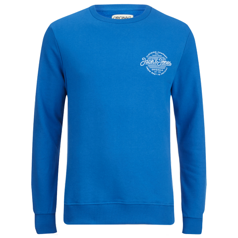 Jack & Jones Men's Originals Smooth Sweatshirt - Imperial Blue