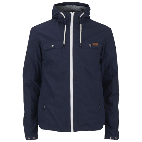 Produkt Men's Contrast Zip Hooded Jacket - Navy Blazer