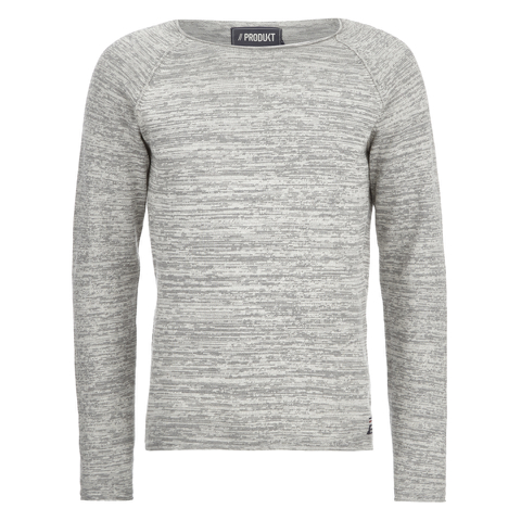 Produkt Men's Space Dye Jumper - Light Grey Melange