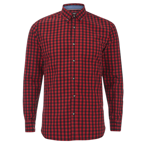 Produkt Men's Long Sleeved Checked Shirt - Rio Red