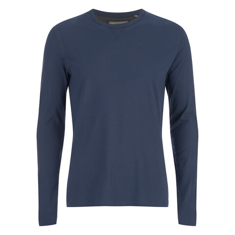 Brave Soul Men's Prague Long Sleeved Top - Navy