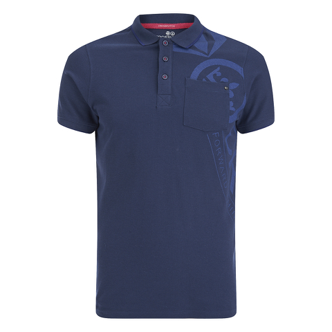 Crosshatch Men's Pacific Polo Shirt - Insignia Blue