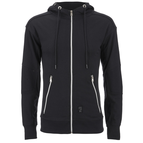 Crosshatch Men's Gixer Zip Through Hoody - Black