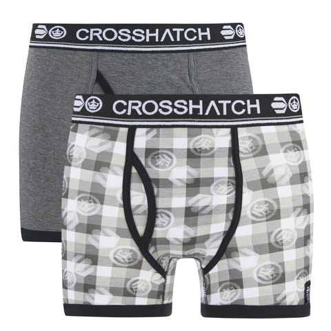 Crosshatch Men's Pixflix 2-Pack Boxers - Charcoal Marl