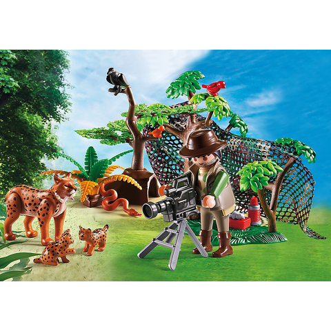 Playmobil Wild Life Lynx Family with Cameraman (5561)