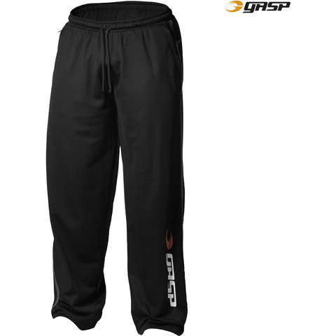 GASP Men's Basic Mesh Pants - Black