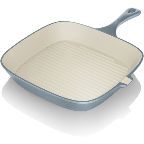 Tower IDT90005 Cast Iron Square Grill Pan - Blue - 24cm