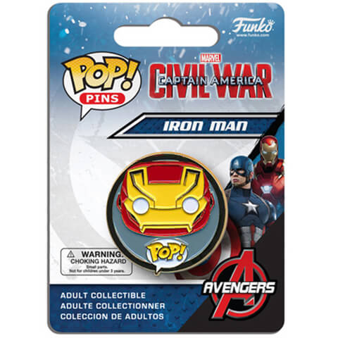 Capitán América: Civil War Iron Man Pop! Pin