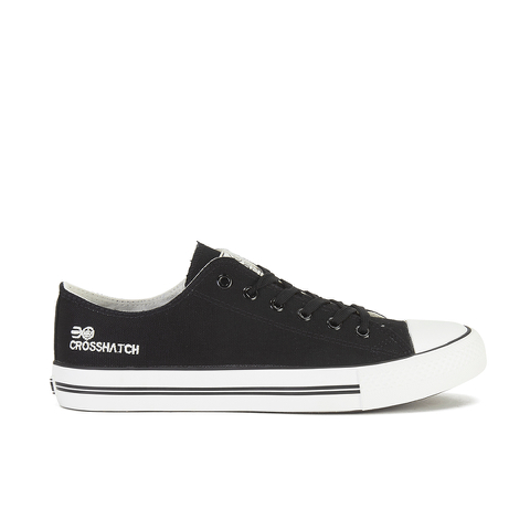 Crosshatch Men's New Halfpipe Canvas Trainers - Black