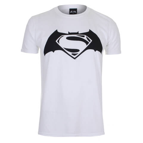DC Comics Batman v Superman Logo Heren T-Shirt - Wit