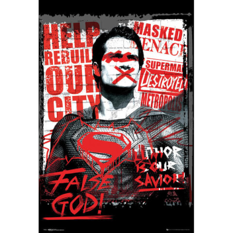 DC Comics Batman v Superman Dawn of Justice Superman False God - 24 x 36 Inches Maxi Poster