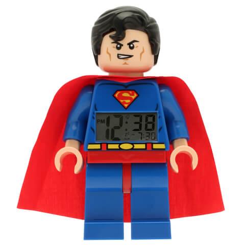 LEGO DC Comics Super Heroes Superman Mini Figure Clock