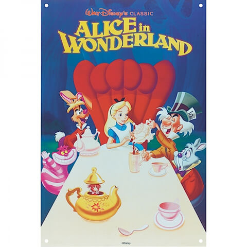 Disney Film Posters Alice Large Tin Sign