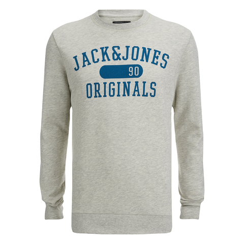 Jack & Jones Men's Seek Crew Neck Sweatshirt - Treated White