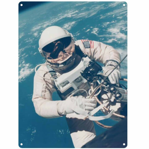 NASA Astronaut Tin Sign - Large