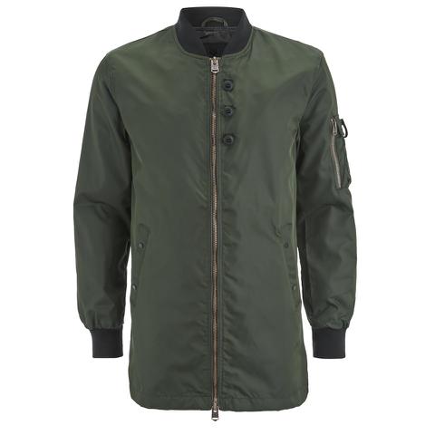 4Bidden Men's Impact Longline Bomber Jacket - Khaki