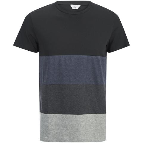 Jack & Jones Herren Core Dylan Block Stripe T-Shirt - Schwarz