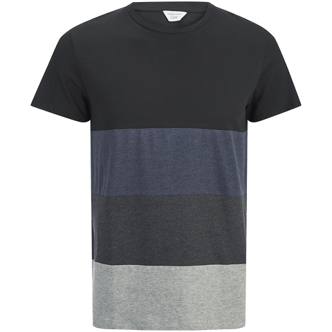 Jack & Jones Men's Core Dylan Block Stripe T-Shirt - Black