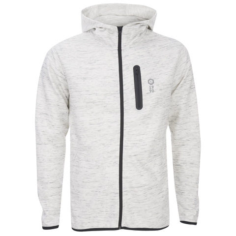 Jack & Jones Men's Core Keep Zip Through Hoody - Treated White
