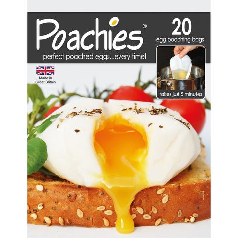 Poachies Egg Poaching Bags - White/Black