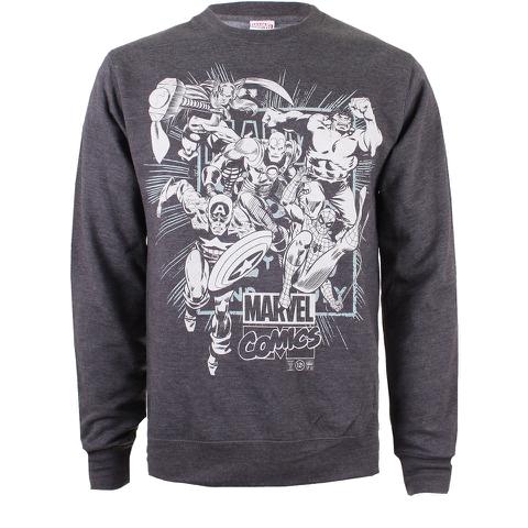 Sweatshirt Homme - Marvel Super Héros - Gris Foncé