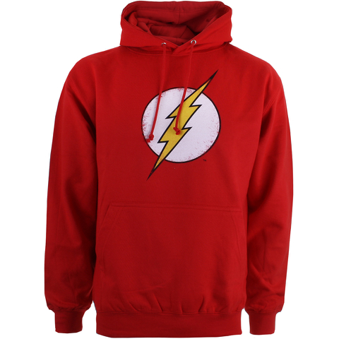 DC Comics Mens Flash Distress Hoody - Red