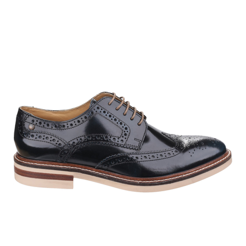 Base London Men's Apsley Brogue Shoes - Blue