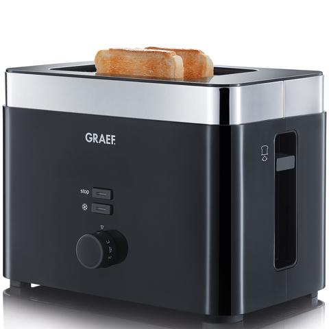 Graef TO62.UK 2 Slice Compact Toaster - Black