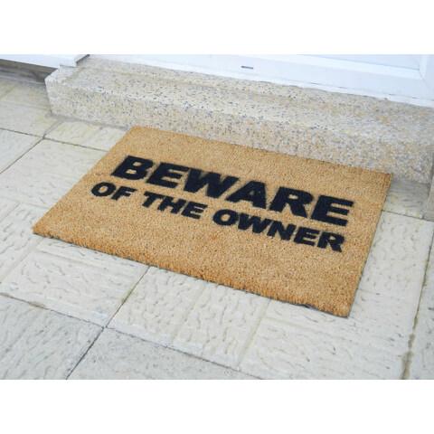Beware of the Owner Doormat