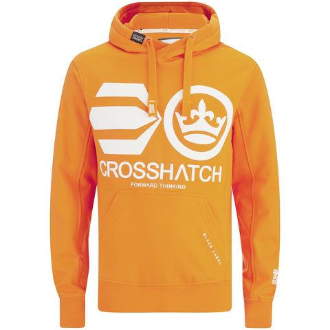 Crosshatch Men's Quon Kangeroo Pocket Hoody - Orange Pepper
