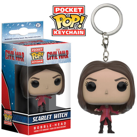 Captain America: Civil War Scarlet Witch Funko Pop! Figur Schlüsselanhänger