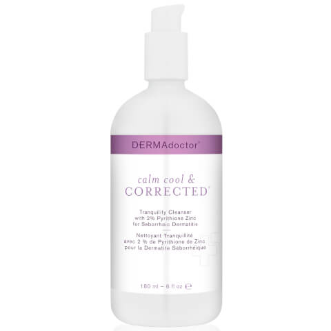 DERMAdoctor Calm Cool and Corrected Tranquility Cleanser with 2% Pyrithione Zinc for Seborrheic Dermatitis